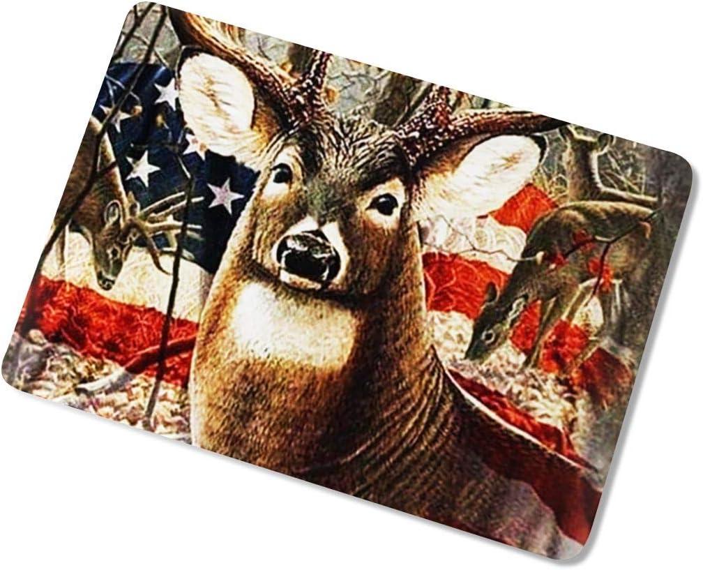 Pekivide Laptop Case for MacBook Vintage USA Flag Deer Elk Laptop Computer Hard Shell Cases Cover New Air13 // Air13 // Pro13 // Pro15