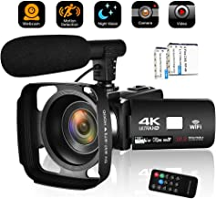 Camcorder Video Camera 4K 30MP WiFi Night Vision...
