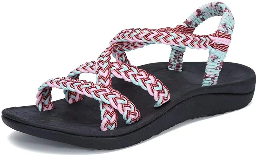 CIOR Women's Sport Sandals Hiking Sandals with Arch Support, Light Wight Non-Slip Outdoor Sandals for Walking/Travel/Beach