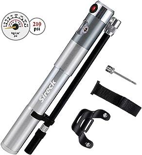 Sireck 自転車 空気入れ 仏式/米式バルブ 携帯用ポンプ 210psi マウンテンバイク · ロードバイクフレームポンプゲージ付き