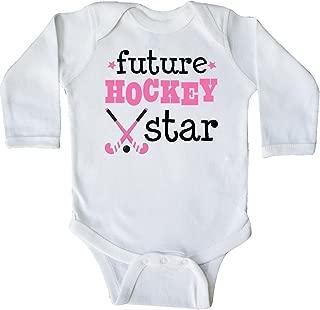 inktastic Future Field Hockey Star Long Sleeve Creeper