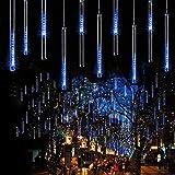 Ecloud Shop LED Météores Douches de Fête, 30cm 8 Tube LED Guirlandes Ficulaires...