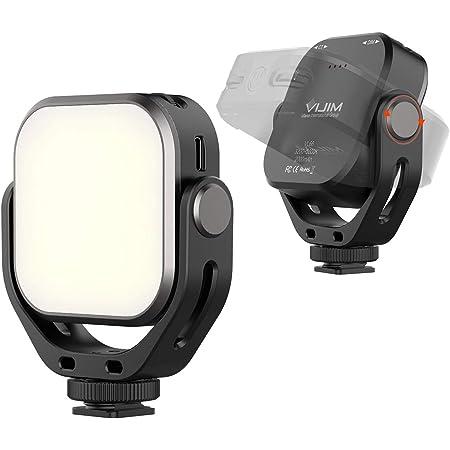 VIJIM VL66 LEDミニビデオライト 360°回転式 小型 USB-C充電式 2000mAhバッテリー 無段階調節 照射角度調整可能 3200K-6500K色温度 CRI95 撮影用ライト 軽量 超高輝度 YouTube Tiktok 自作、撮影、写真、ビデオに適用