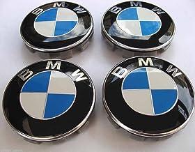 60mm BMW 4 Centres de roue // Caches moyeux emblème jante Logo BLEU // BLANC
