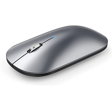 Bluetooth Mouse, TeckNet Slim Silent Rechargeable Wireless Mouse Bluetooth 5.0/3.0 2.4G Portable Optical Cordless Mice with USB Receiver 4 Adjustable DPI for MacBook iPad Windows Computer Laptop PC