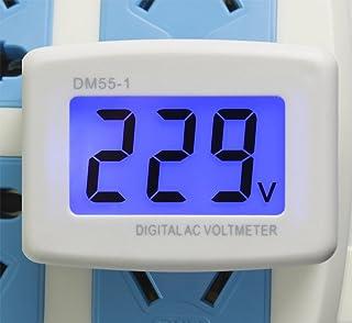 UCTRONICS Flat US Plug AC 80-300V LCD Digital Voltmeter 220V Panel Voltage Tester Meter..