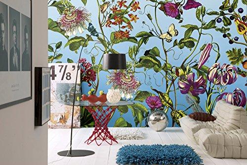 Komar - Vlies Fototapete JARDIN - 368 x 248 cm - Tapete, Wand, Dekoration, Wandbelag, Wandbild, Wanddeko, Blume, Blüten - XXL4-029