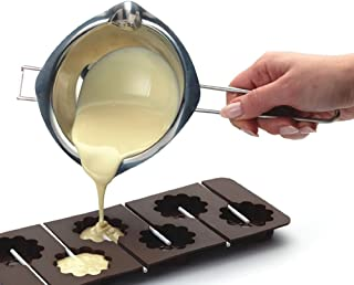 Chocolate Melting Pot, Stainless Steel Double Boiler Insert Baking Tools 480ml Quality Assurance Never Rust Homemade Mask,Melted Butter Chocolate