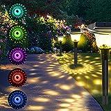 Lámpara Solar para Jardín, T-SUN 6 piezas Luces Solares para Jardín, Luz Exterior Impermeable, Jardin Solares Exterior Luces de Decoración, Solar Luces para Caminos de Jardín.