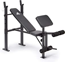 Adidas Unisex Adult Essential Workout Bench & Gym - Black, One Size