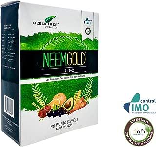 NeemTree Organic Neem Gold (4-1-2 ) 5 Pounds Organic - Neem Seed Meal Fertilizer- Vegan Neem Seed Meal Fertilizer | OMRI approved