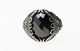 Turkish Silver Ring with Zircon Stone for Men, 1113