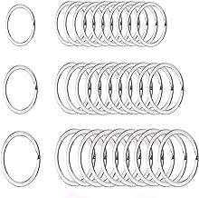 wxj13 50 piezas soporte de Split Key Ring Anillo de Split llavero de metal, 3 tamaños (3/4
