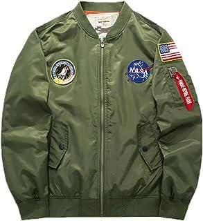 Elonglin Men's Bomber Jackets Military & Flight Style Hip Hop Jacket Casual Lightweight Softshell Outwear