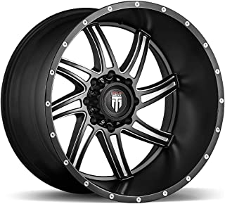 AMERICAN TRUXX VORTEX AT162 Wheel with Milled Finish (24 x 14. inches /6 x 135 mm, -76 mm Offset)