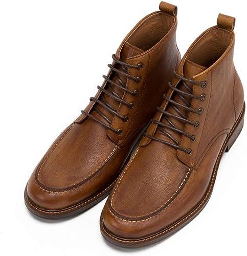 ZHRUI Stiefel Chukka con Cordones para Hombre Stiefel de Confort duraderas y Suela Blanda de Moda clásica (Farbe   braun, tamaño   EU 43)
