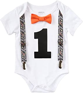 Noah`s Boytique First Birthday Outfit Baby Boy Camo Hunting Rustic Outdoor Theme Trees