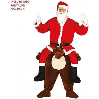 Guirca- Disfraz Papá Noel Carry Reno Adulto Talla 52-54 ...