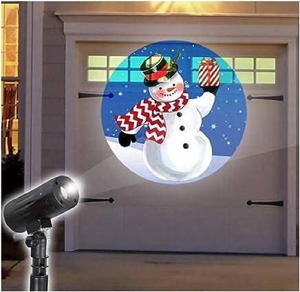 节日 LED 桩式投影仪 雪人 Snowman