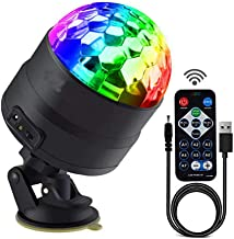 Disco Lights Party Stage LED Strobe Lights with Remote Control DJ 7 Colors Lighting Lamp for Car Wedding Bar Club Karaoke ...