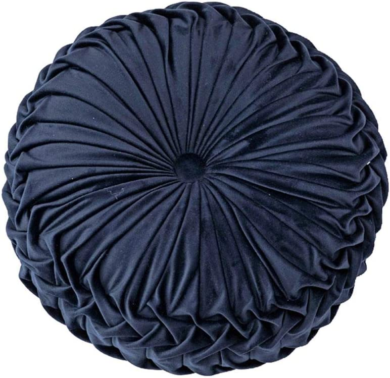 38 x 10 cm color azul marino de felpa Xiang Ru Coj/ín de terciopelo para el suelo