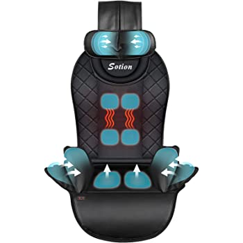 Sotion Back Massager with Air Compress & Heat,Shiatsu Back Massager for Car,Home,Office Chair Use,Electric Full Body Massager Helps Relieve Stress and Fatigue for Neck,Back,Waist and Hips