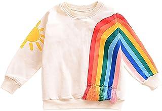 Agoky Sudadera Unicornios Camiseta de Algodón Manga Larga para Niñas