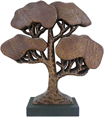 Decozen Handmade Wooden Tree of Life Décor A Symbol of Growth and Strength on Base Decorative Accents for Home Decor Living R