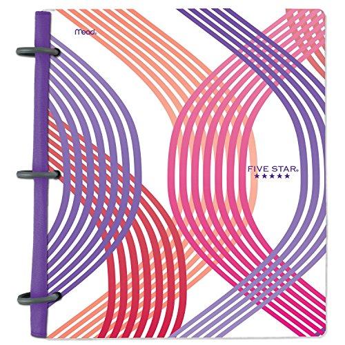 Five Star Flex Hybrid NoteBinder, 1 Inch Binder, Style, Wavy (29148BR7)