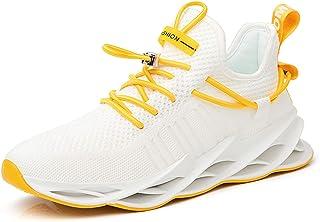 Zapatillas de Deporte Casuales para Hombre Zapatos Deportivos al Aire Libre sin Cordones Zapatillas de Tenis Transpirables Zapatillas Deportivas para Correr