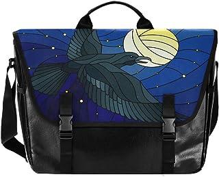 Bolsa de lona para hombre y mujer, diseño de águila y luna, estilo retro, ideal para iPad, Kindle, Samsung