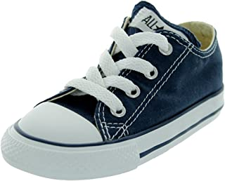 Converse Unisex-Child Chuck Taylor All Star Low Top Sneaker, navy, 5 M US Toddler
