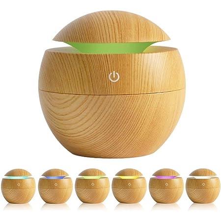 AVEDISTANTE Humidificador de Esencias/Difusor de Aromas con LED de 6 Colores, Difusor Humidificador Perfecta para el Hogar, Sala de Yoga, Oficina, SPA, Dormitoiro, Habitación de Bebé