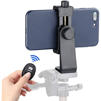 Ulanzi Cell Phone Tripod Adapter - Universal Phone Tripod Mount Attachment for Any Size Smartphone - Includes Bonus Wireless Shutter Remote for iPhone Samsung Huawei Xiaomi