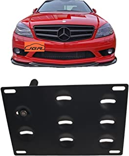 JGR Racing Car No drill Tow Eye Front Bumper Tow Hole Hook License Plate Mount Bracket Holder Adapter Relocation Kit For Mercedes W204 C-Class W212 E Class C117 CLA-Class W221 S-Class W166 ML X204 GLK