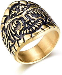 Best gold eagle head ring Reviews