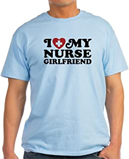 I Love My Nurse Girlfriend Light Cotton T-Shirt