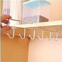 Colgador para tazas Paellaesp Almacenamiento de cocina rack armario gancho de organizador Soportes para Tazas (Blanco)