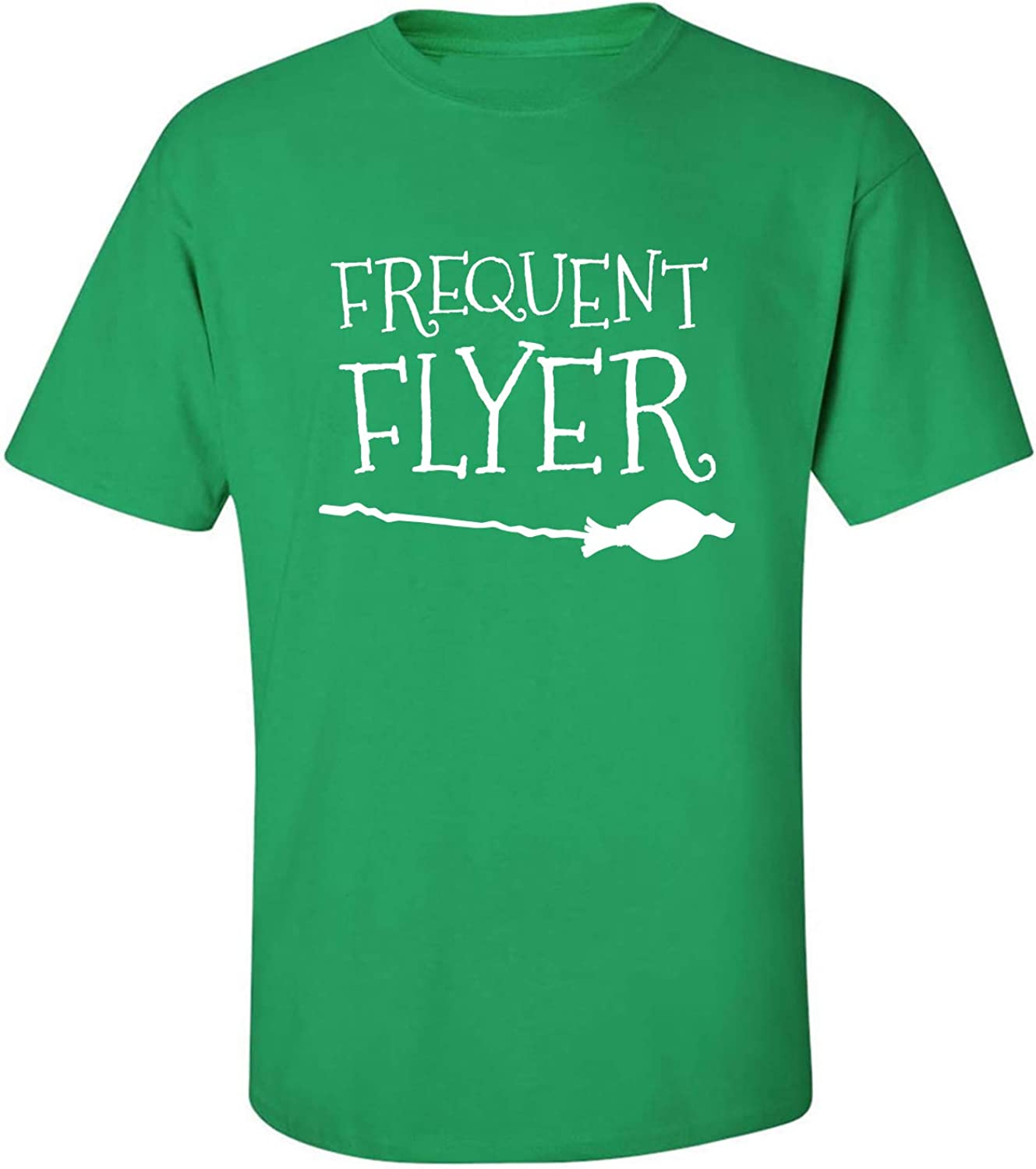 Frequent Flyer Adult T-Shirt in Kelly Green - XXXXX-Large