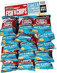 Pub Card 40g x 15 packs. Baked not fried! A healthier snack you can pop in your pocket or bag and enjoy anywhere! Burton's Daily - Salt & Vinegar Flavoured Snack Biscuits. Packaging colour may vary to that shown. Fish 'n' Chips. No hydrogenated fats....