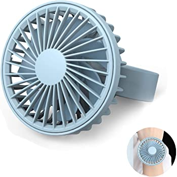 LARNOR USBCharging Mini Magnetic Suction Wrist Wearable Dial Portable Small Turbine Fan 108x86x52mm. Blue, A