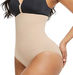 FEDNON Women's Seamless Shapewear Hi-Waist Tummy Control Thong Panty Butt Lifter Shorts