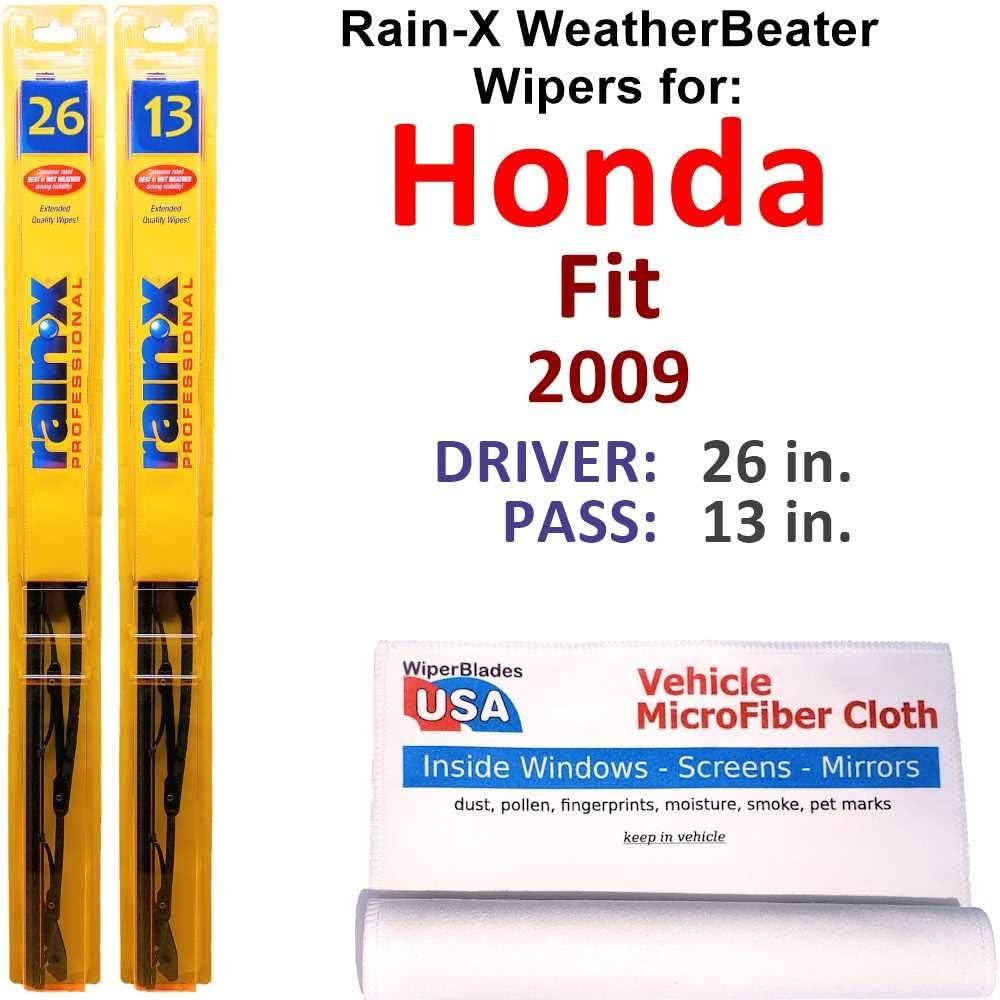 Rain-X WeatherBeater Wiper Blades for Honda Set Max 86% OFF NEW 2009 Fit