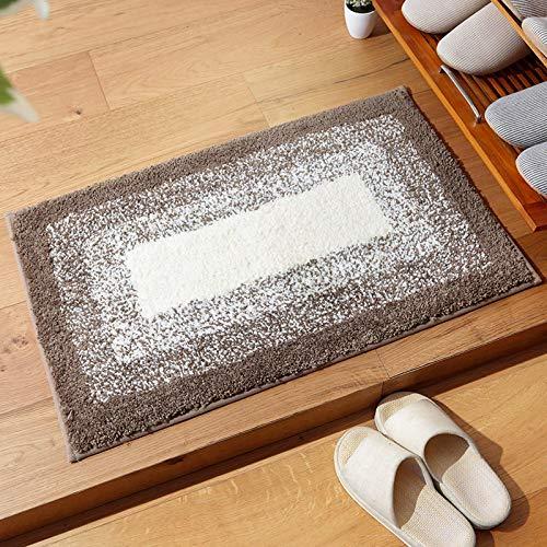 YLBH Alfombrillas lisas y sencillas para el hogar, alfombrillas antideslizantes para el baño, alfombrillas absorbentes de 80 x 120 cm C