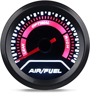 WATERWICH Air/Fuel Ratio AFR Gauge Kit 2inches 52mm 12V Universal for Car SUV Vehicle Automotive