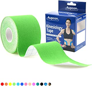 AUPCON Sports Kinesiology Tape Uncut Hypoallergenic Breathable Muscle Tape Therapy Recovery Support for Knee Shoulder Ankle Elbow Shin Neck Splints FDA Approved Latex Free