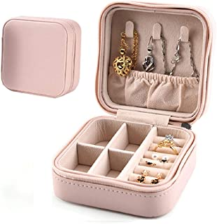 Mini Jewellery Box Organizer,Portable Jewelry Case,Small Jewelry Box For Travel,Travel Case Organizer For Rings Earrings N...
