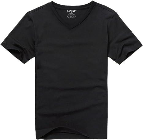 HM. La Camiseta Blanca De Manga Corta con Cuello En V De ...