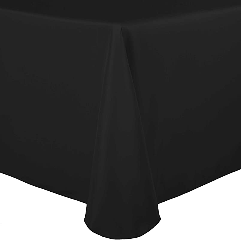 Ultimate Textile 52 X 70 Inch Oval Polyester Linen Tablecloth Black