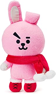 BT21 Official Merchandise with Line Friends - Cooky Character Winter Standing Plush Toy Doll 10 inches